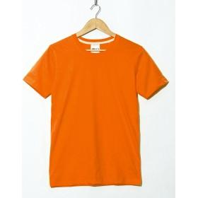 Tシャツ 無地 半袖 クルーネック メンズ 4.4オンス カットソー 春 夏 シンプル XLサイズ 05.オレンジ fut-0001-xl-orange1