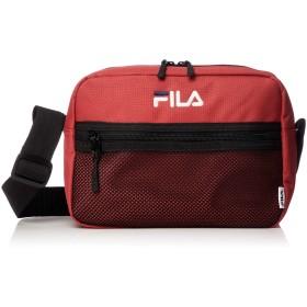 [フィラ] ショルダーバッグ メンズ レディース 斜めがけ カジュアル 肩掛け 大容量 軽量 メッシュポケット ポリエステル 旅行バッグ レッド F