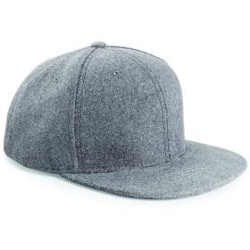(ビーチフィールド) Beechfield メルトン ウール レトロ スナップバック ベースボールキャップ 野球帽 (ワンサイズ) (グレー)