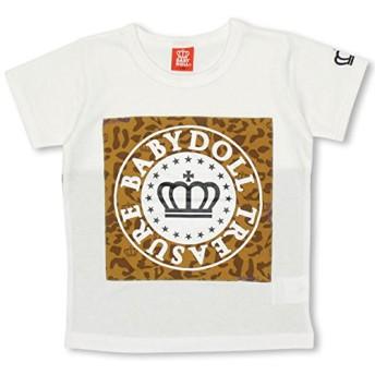 BABYDOLL(ベビードール) 通販限定 親子ペア TREASURETシャツ-子供服 男の子 女の子 ベビー キッズ -0531K 110cm ホワイト