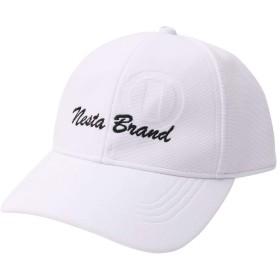 [ネスタ ブランド] NESTA BRAND 帽子 エンボス加工 ロー キャップ 192NB8701 ホワイト F