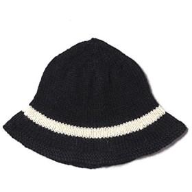(ブラックシープ) BLACK SHEEP CLOCHE HAT ニットハット BLACK/NATURAL