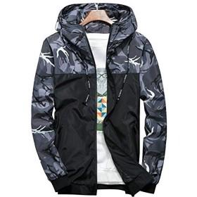 (ドンルルオイン) Dunluluoyin ウィンドブレーカー メンズ ナイロン ジャケット 防風 防寒 登山 パーカー スタジアムジャンパーレジャーファッション