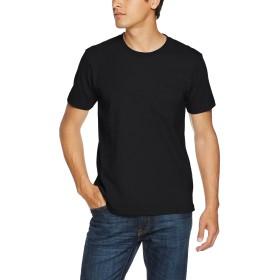 (ユナイテッドアスレ)UnitedAthle 7.1オンス へヴィーウェイト Tシャツ(ポケット付)(オープンエンドヤーン) 425301 002 ブラック M