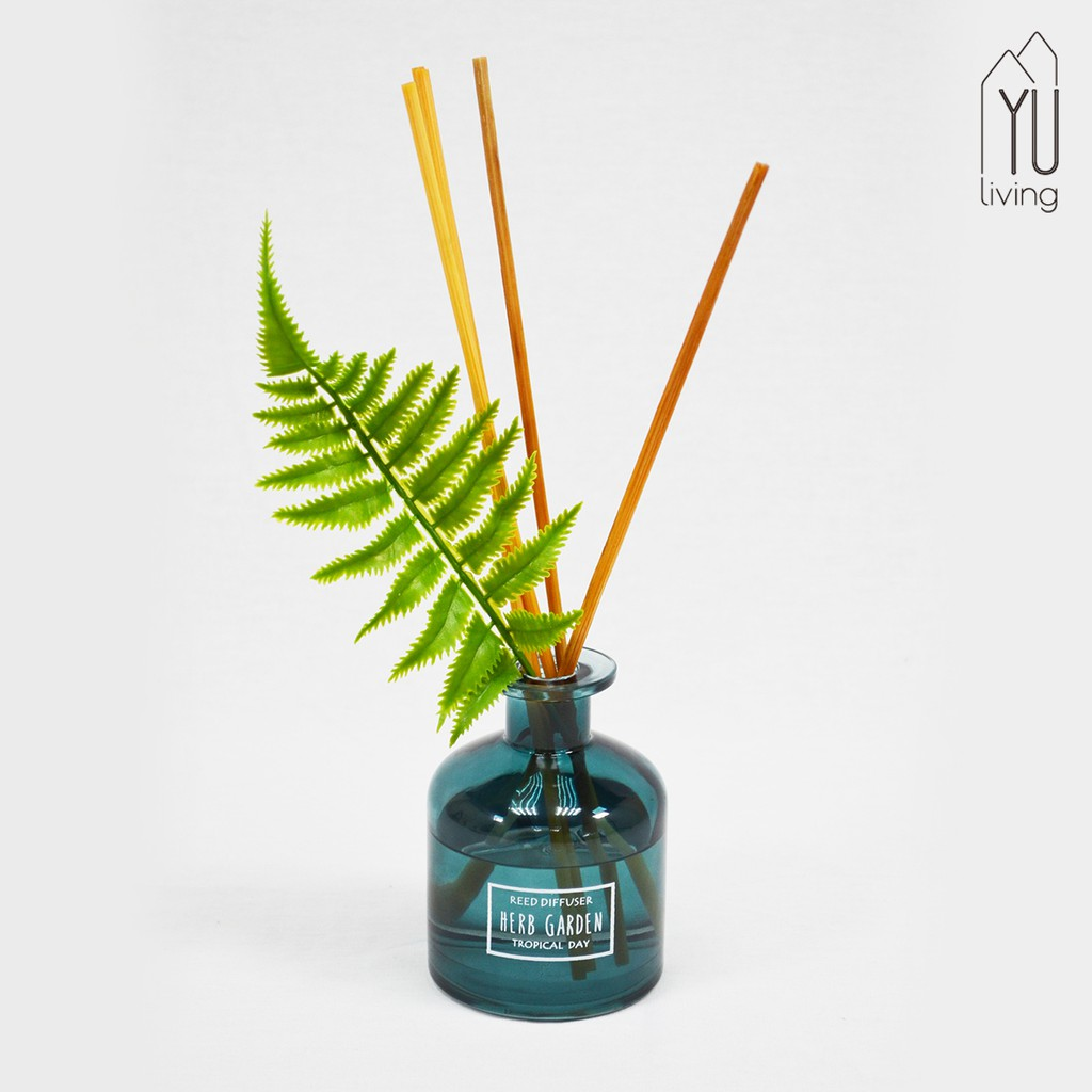 【YU Living】樹葉造型裝飾香氛擴香瓶 室內香氛 160ML (藍色) [折扣碼現折]
