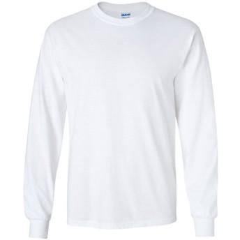 ギルダン GILDAN Tシャツ 長袖 米国ブランド ウルトラコットン 6oz クルーネック エコテックスラベル認定ブランド サイズ S~XL 2400 (M, ホワイト) [並行輸入品]