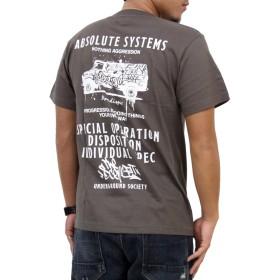 (アスナディスペック)ASNADISPEC tシャツ メンズ 大きいサイズ ティシャツ 半袖Tシャツ ブランド デザイン ワゴン ロゴ logo ストリート 柄 ブランド プリント t-シャツ asst2198 (XXL, CHARCOAL)