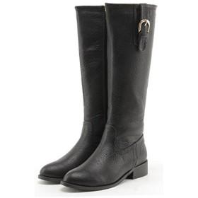 [フェリシア フェリーチェ] 縦ベルトのロングブーツ 23.0cm ブラック 黒(倉庫1)