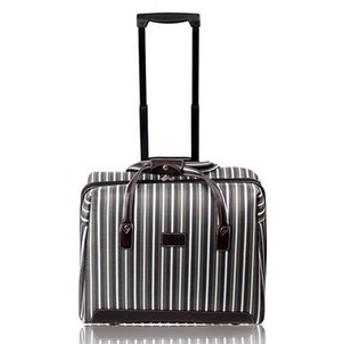 Rush.C キャリー バック スーツケース 旅行 ストライプ オシャレ【Rush.Cオリジナルハンカチセット】270 (グレー)