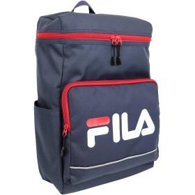 FILA(フィラ)タウンスクエアリュック BOX型 軽量 撥水 (ネイビー)