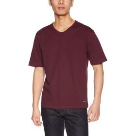 (マックレガー) McGREGOR スムースボーダーTシャツ ワイン Lサイズ
