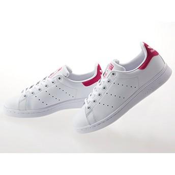 [アディダス] スタンスミス スニーカー STAN SMITH J B32703 24.5cm White/Pink [並行輸入品]