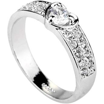 K.L.Y 指輪 レディース ハート リング ダイヤモンドCZ 18金RGP ジュエリー ファッションアクセサリー レディース リング 高品質リング キラキラ レディース かわいい 指輪 贈り物 レディース 母の日