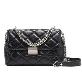 小さな香りの女性のバッグLinggeチェーンバッグ小さな化粧品バッグデイリーパック (Color : Black, Size : 231410cm)