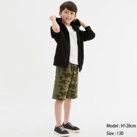 (GU)BOYSスウェットイージーハーフパンツ OLIVE 150