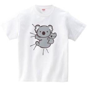 [itaxes] しがみつくコアラ(Tシャツ・ホワイト)(Lサイズ) (あずき)