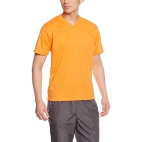 [グリマー] 半袖 4.4オンス ドライ Vネック Tシャツ 00337-AVT オレンジ SS (日本サイズSS相当)