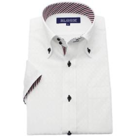 (ブルーム) BLOOM 2018夏 オリジナル 半袖 ワイシャツ クールビズ 形態安定加工 8 M