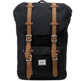 HERSCHEL SUPPLY ハーシェルサプライ Little America Backpack Mid-Volume リトルアメリカバックパックミッドボリューム リュックサック デイパック バッグ カバン 鞄 10020 Black/Tan Synthetic Leather [並行輸入品]