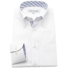 (ブルーム) BLOOM 2018春夏 オリジナル 長袖 ワイシャツ 形態安定 ブルーチェック 4 S