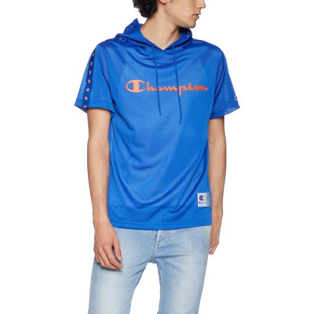 [チャンピオン] メッシュパーカーTシャツ バスケットボール C3-PB346 メンズ ブルー 日本 L (日本サイズL相当)