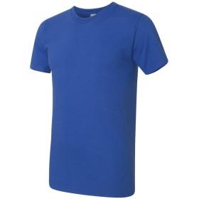 (アメリカン・アパレル) American Apparel メンズ ファインジャージー Tシャツ 半袖 カジュアル トップス (M) (ロイヤルブルー)