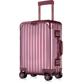 Lesige スーツケースキャリーケースTSAロック搭載3段階調節アルミ・マグネシウム合金製キャリーバッグ360度回転超静音キャスター旅行出張大容量軽量保護カバー付き180日保証によって、(ローズ、Sサイズ(1〜3泊用・機内持込OK・43L))