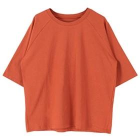 [ティティベイト] オーバーサイズラグランスリーブコットンTシャツ ATXP1974 L オレンジ