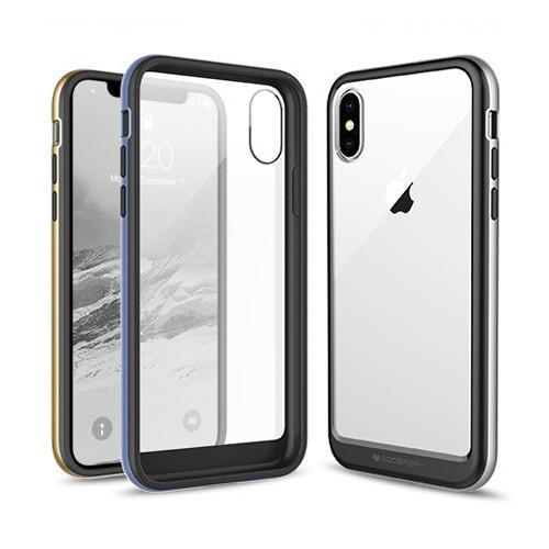 韓國 金屬色邊條 軟邊框硬殼 手機殼│iPhone X XS 11│z9088