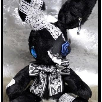【usagi noir】ウサノア ぬいぐるみ 黒×青