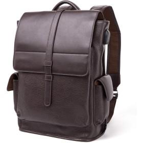 BISONDENIM リュック メンズ 本革 ビジネス リュックサック バッグパック 肩掛け 人気 ファッション ビジネス カジュアル 通学 通勤 旅行 登山 アウトドア