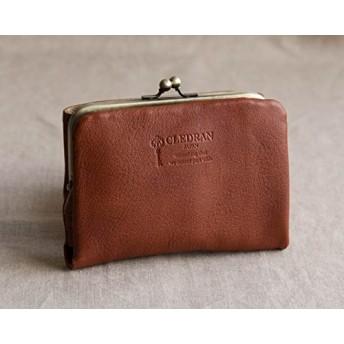 (クレドラン) CLEDRAN 財布 二つ折り がま口 革財布 ウォレット レザー がまぐち レザーウォレット 2つ折り NOM PURSE WALLET CL2620 ワンサイズ即納 ブラウン