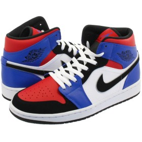 [ナイキ] AIR JORDAN 1 MID WHITE/BLACK/HYPER ROYAL/UNIVERSITY RED 【TOP3】 - US12-30.0cm [並行輸入品]