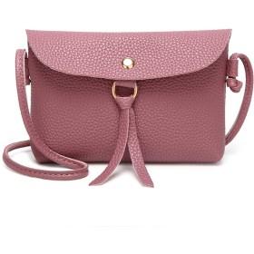 TMBY レディースショルダーバッグ ミニ バック 斜め掛け 肩掛け スマホ携帯入れ 財布 (ピンク)