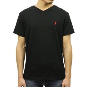 [ポロ ラルフローレン] POLO RALPH LAUREN 正規品 メンズ 半袖VネックTシャツ SHORT-SLEEVED V-NECK TEE BLACK XL 並行輸入品 (コード:4027450513-5)