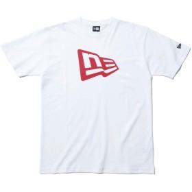 (ニューエラ) NEW ERA Tシャツ FLAG LOGO ホワイト/ピンク S