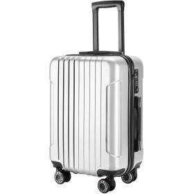 (TTOバリジェリア)TTOvaligeria スーツケース S型機内持ち込み 軽量 TSAロック付 静音 大型(S,シルバー)
