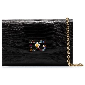 Dolce & Gabbana レザー ショルダーバッグ - ブラック