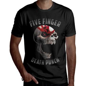 Five Finger Death Punch ファイヴ・フィンガー・デス・パンチ 半袖 メンズ Tシャツ ベーシック 夏服 通気性 おしゃれ トップス ゆったり プルオーバーッ XL