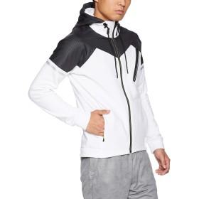 [Mizuno] トレーニングウェア ストレッチフリースヘビージャケット 32MC8660 メンズ ホワイト×ブラック 日本 XL (日本サイズXL相当)
