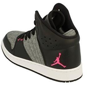 Nike Air Jordan 1 Flight 4 Prem GG Hi Top Trainers 828245 Sneakers Shoes (uk 4.5 us 5Y eu 37.5, cool grey vivid pink 019)