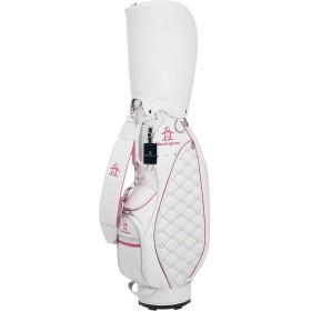 [マンシングウェア] キャディバッグ MQCNJJ02 ホワイト×ピンク