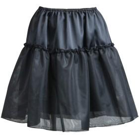 (ペチコート屋)透けないパニエ 45cm丈 (ウエストは58cm~93cm) ブラック