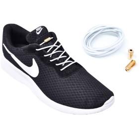 [YWSHF] 靴ひも 結ばない ゴム 伸びる スニーカー 革靴用 スポーツ 登山靴 野球 長靴 高齢者 子供用 メンズ むすばない 靴ひも ゴールドネジ金属 細身 丸紐 100 白 黒 おしゃれ シューレース