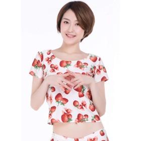 イチゴ柄 Tシャツ 大きな莓柄が可愛すぎる Tシャツ [ SB01 ] (S)