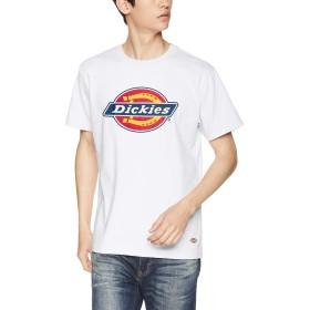 [ディッキーズ] 【Dickies】ロゴプリントS/S-Tシャツ 191M30WD49 【Dickies】ロゴプリントS/S-Tシャツ 191M30WD49 メンズ DK006026 ホワイト サイズL, 着丈71cm, 胸囲106cm, 肩幅46cm, 袖丈21cm