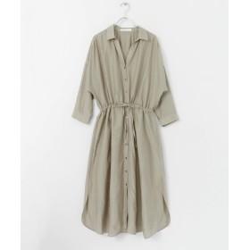 [アーバンリサーチ] ワンピース ドレス コットンシルクシャツワンピース レディース L.KHK FREE
