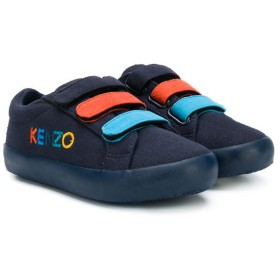 Kenzo Kids touch strap sneakers - ブルー