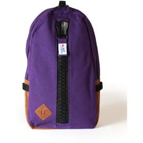 (63.Purple)gym master ジムマスター メガジップ リュックサック デイパック バックパック ビッグジップ メンズ レディース アウトドア スウェット コットン素材 G239561