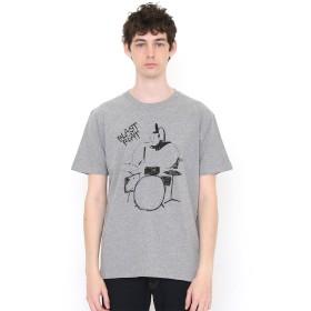 (グラニフ) graniph Tシャツ ドラミングマン (ヘザーグレー) S (g01) (g14)